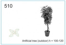 Artificial tree (outdoor) h = 100-120