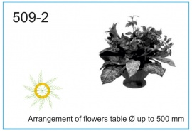 Arrangement of flowers table Ø up to 500 mm