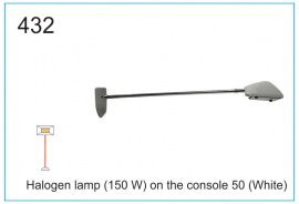 Halogen lamp (150 W) on the console 50 (White)