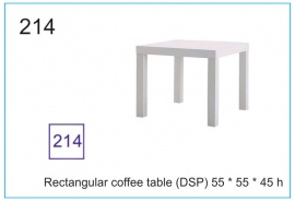 Rectangular coffee table (DSP) 55 x 55 x 45 h