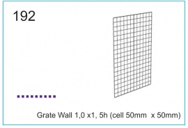 Grate Wall 1,0 x1, 5h (cell 50mm  x 50mm)