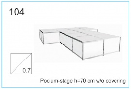 Podium-stage h=70 cm wo covering