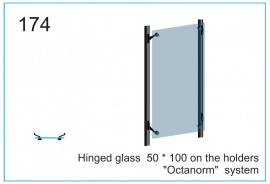 Hinged glass  50 x 100 on the holders