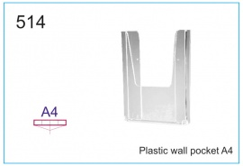 Plastic wall pocket A4