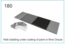 Wall cladding under coating of paint or films Oracal