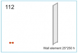Wall element 25x250 h