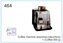 Coffee machine (espresso,capuchino) + (Coffee 500 g)