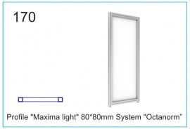 "Profile ""Maxima light"" 80x80mm System""Octanorm"""