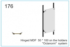 Hinged MDF  50 x 100 on the holders