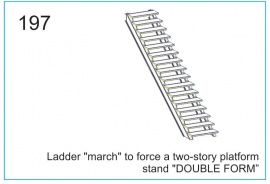 Ladder march to force a two-story platform