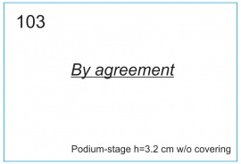 Podium-stage h=3.2 cm without covering