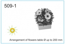 Arrangement of flowers table Ø up to 200 mm