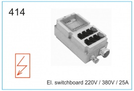 El. switchboard 220V , 380V , 25А
