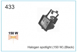 Halogen spotlight (150 W) (Black)