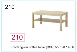 Rectangular coffee table (DSP) 55 x 90 x 45 h