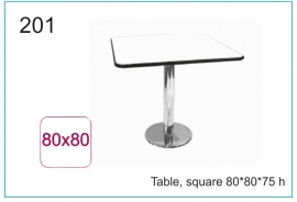 Table, square 80x80x75 h