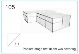 Podium-stage h=110 cm wo covering