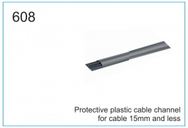Protective plastic cable channel for cable 15mm and less