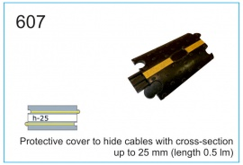 Protective cover to hide cables with cross-section up to 25 mm (length 0.5 lm)