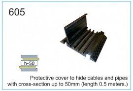 Protective cover to hide cables and pipes with cross-section up to 50mm (length 0.5 meters.)