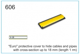 """Euro"" protective cover to hide cables and pipes with cross-section up to 18 mm (length 1 rm)"